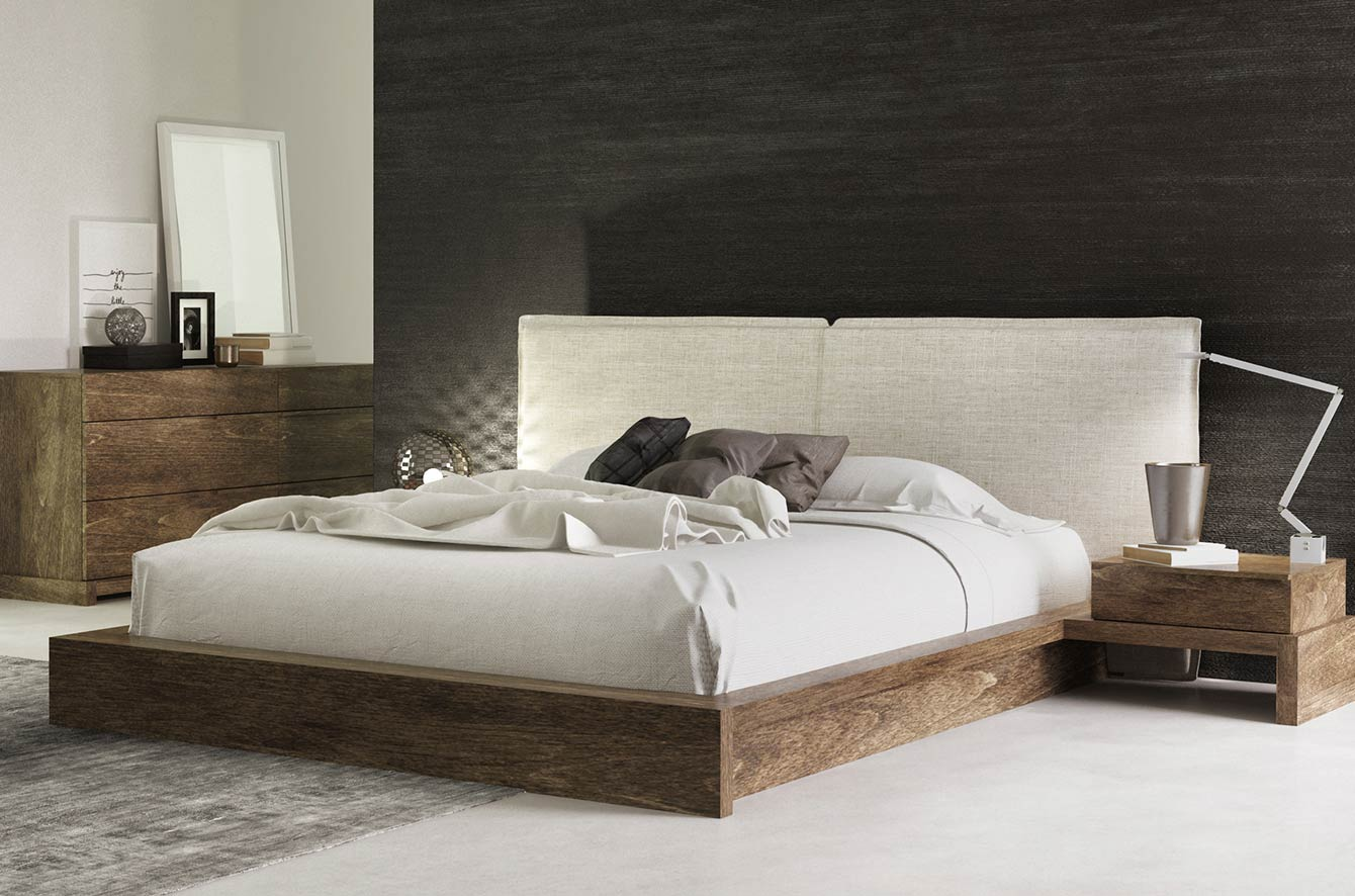 SILK Upholstered Bed by Huppe