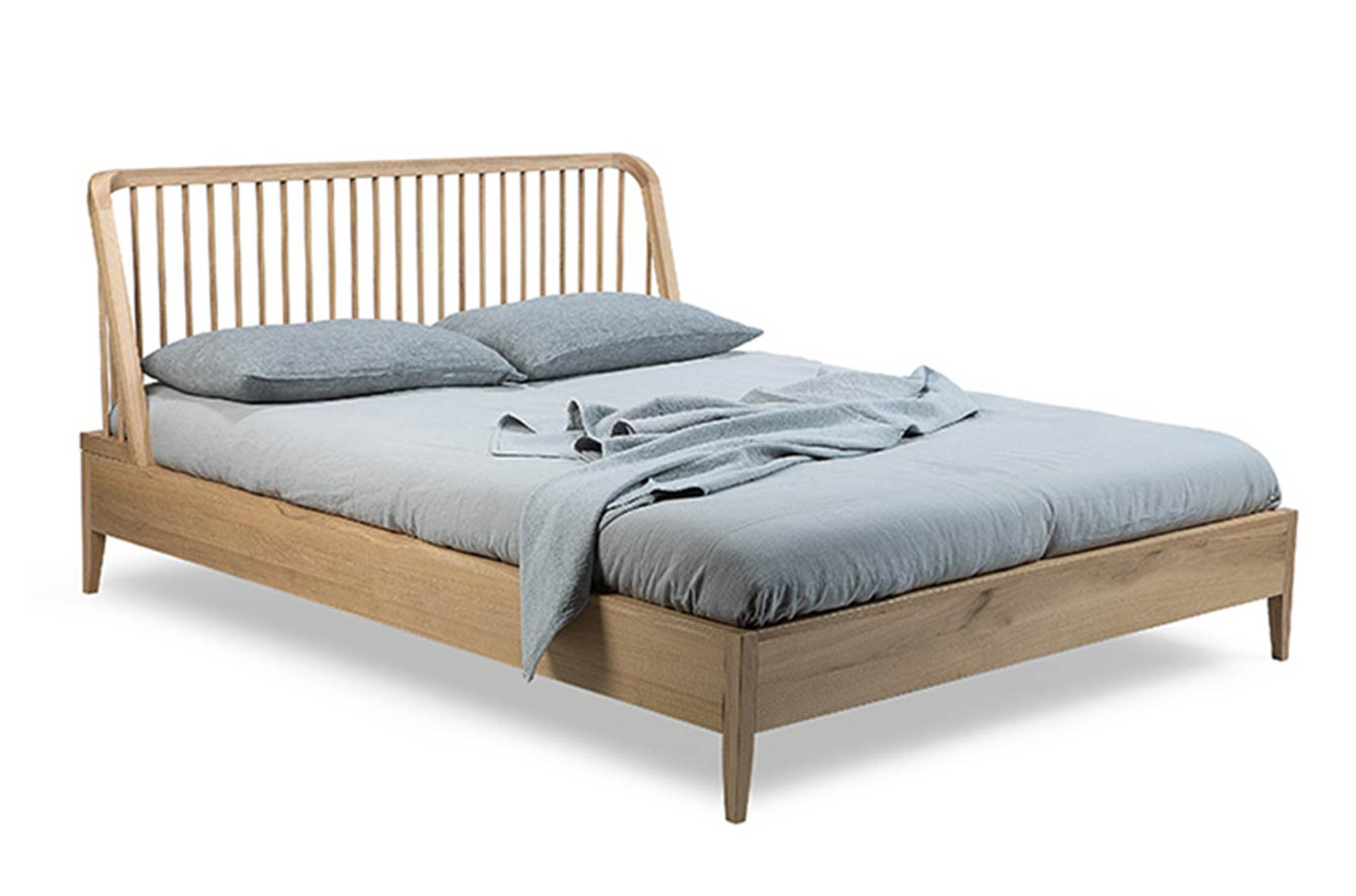 Spindle Bed with Slats by Ethnicraft