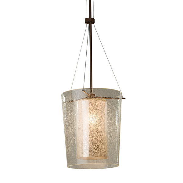 Fusion Amani Center Drum Pendant by Justice Design Group.