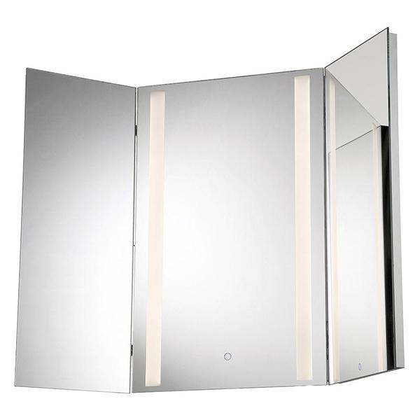 Tri-Fold LED Mirror by Eurofase.