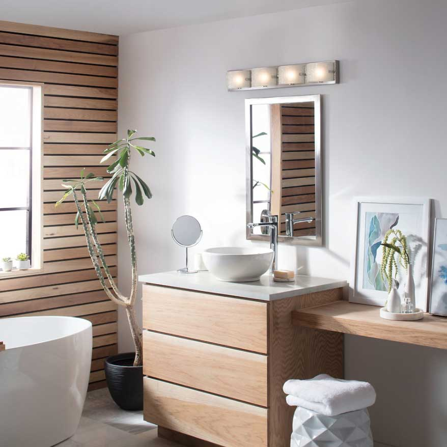 A modern bathroom vanity